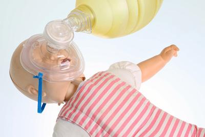 Bild einer Beatmungsmaske für Babys