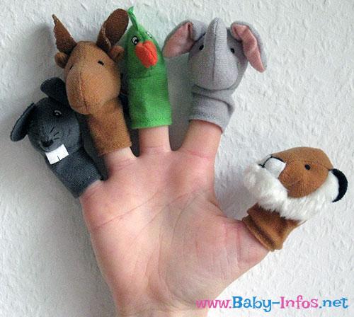 Handpuppen bzw. Fingerpuppen für Kinder