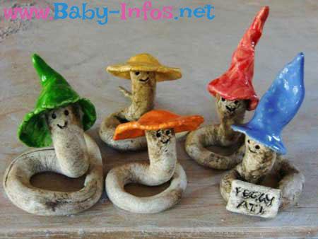 Keramik Würmer als Gastgeschenk