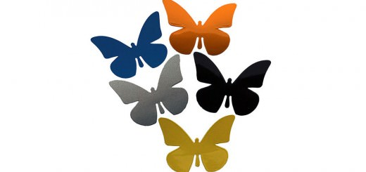 Reflektor Aufkleber Schmetterling
